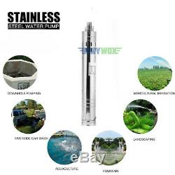DC 12V Brushless Solar Deep Well Submersible Water Pump 110W, 2m3/H, 20m Max Lift