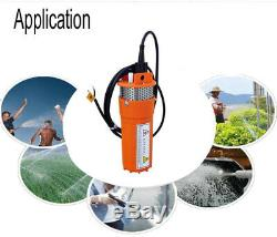 DC 12V Volts Deep Well Solar Submersible Fountain Water Pump Alternative Energy