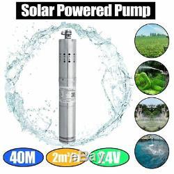 DC 24V 2000L/H MPPT Farm&Ranch Solar Power Submersible Bore Deep Well Water Pump