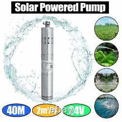 DC 24V 284W Solar Water Powered Well Pump Submersible Bore Hole Pond Deep