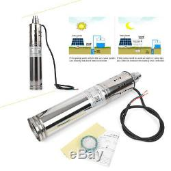 DC 24V 3m3/2m3/H 40/80/120m Solar Powered Water Pump Submersible Hole Deep Well