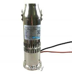 DC 24V Brushless Solar Water Pump 5000L/H 10m Head Submersible Deep Well Pump