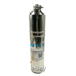 DC 24V Solar Deep Well Submersible Water Pump, 648W, 1320.8GPH, 98.4FT Max Lift