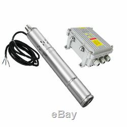 DC 36V Deep Water Well Submersible Pump 1/2HP 3 Inch Solar Screw Pump, Stainless