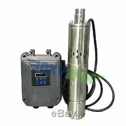 DC 48V Brushless Screw Solar Deep Well Submersible Water Pump 500W, Stainless