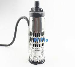 DC Brushless Solar Water Pump for Deep Well 24V 3000L/H 20m Head Submersible