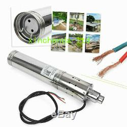 DC24V Submersible Brushless Solar Water Pump 3m³/H 120M Head max Deep Well Pump