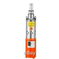 DC48V 400W 115FT Head Household Farm 3in Submersible Water Pump Pond Deep Well