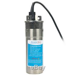 Deep Well Water 3.2GPM DC Pump-Alternative Energy Solar Battery 12V Stainless