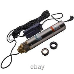 Durable 4inch 750W 2600L/H Borehole Deep Well Submersible Water Pump 20m Cable