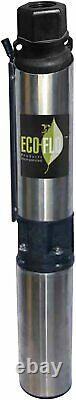 ECO-FLO Products EFSUB7-123 Submersible Deep Water Well Pump, 3 Wire, 230v