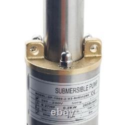 Elettropompa pompa pozzi profondi sommersa immersione 0.37 kW 1080 l / h 50m