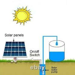 High Lift Solar Water Pump 12/24V 180W 25m Lift Deep Well Pump Irrigation