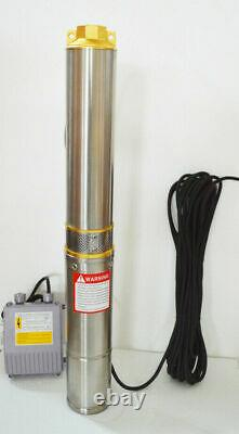 Newest 1 Outlet 110V Stainless Steel Deep Well Submersible Pump for Clear Water
