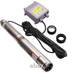 POMPA POZZO PROFONDO pompa pompa sommersa 3.800 L/H 370 W-ACCIAIO INOX-230 V