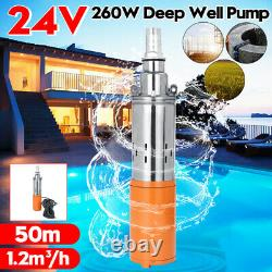 Portable 260W 24V 1.2M³/H 50M Max Lift Deep Well Submersible Water