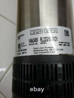 Redlion Deep Water Submersible Pump RL22G10-3W2V BOX SLIGHTLY DAMAGED SEE DESCRI