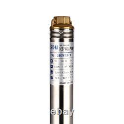 SHYLIYU 110V/60Hz 1Hp 3 Inch Bore Submersible Deep Water Well Pumps 116m 3.6m³/h