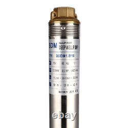 SHYLIYU 110V60Hz 0.5Hp Stainless Steel 3 Deep Well Submersible Water Pump 216ft