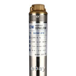 SHYLIYU 220V60Hz Stainless Steel 3 Deep Well Submersible Water Pump 0.5Hp 216ft