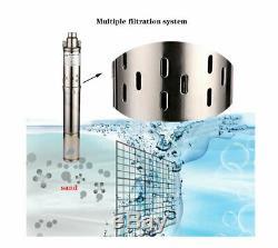 SHYLIYU 220v/60Hz 0.5hp Screw Water Pump PT 2 Deep Well Submersible Pumps 180ft