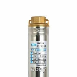 SHYLIYU Deep Well Pump Submersible Water Pump Stainless Steel 220V/60Hz 1Hp 2.5