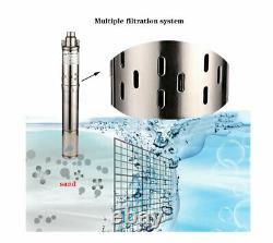 SHYLIYU Stainless Steel Deep Well Submersible Pump Screw Water Pump3 OD Pipe
