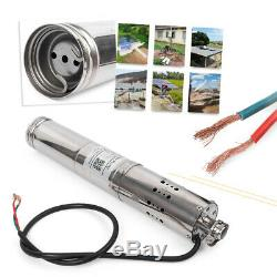 Solar Powered Water Pump Submersible Deep Well Stainless 24V/36V DC 2m³/H 60m