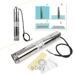 Solar Powered Water Pump Submersible Deep Well Stainless Industry Tool Kit New