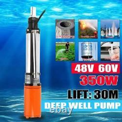 Solar Water Pump Deep Well Pump Lift DC Screw Submersible Irrigation Garden Kits