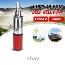 Solar Water Pump Lift Deep Well Pump DC Screw Submersible Irrigation Garden Home
