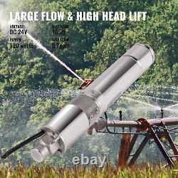 VEVOR 120W 24 V Solar Water Pump 3/4 Stainless Steel Submersible Deep Well Pump