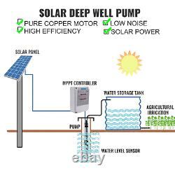 VEVOR 3'' Solar Power Water Pump 24V 210W WithMTTP 260FT 7.7GPM Deep Bore Well