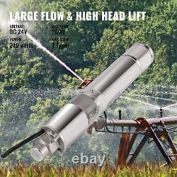 VEVOR 3 Solar Power Water Pump 24V WithMTTP 316 Stainless Steel Deep Bore Well