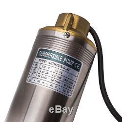 0.37kw Électrique Pompa Sommergibile Profonda Sommersa 55m 6000 L / H 4 Par Pozzi