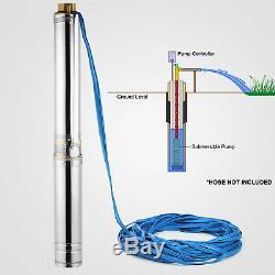 1.5hp 240v 4 Puits Profond Submersible Pompe À Eau D'irrigation Bore Puisard Inox