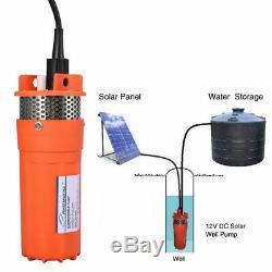 12v DC Profond Submersible Solaire Pompe De Puits D'eau Batterie Énergie Alternative 4 230ft