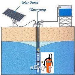 12v DC Profonde Submersible De Puits D'eau Pompe Alternative D'énergie Solaire Alimenté Par Batterie