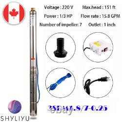 220v/60hz 250w 3 Pipe Deep Well Submersible Water Pumps Max 46m 3.6m³/h Us Plug
