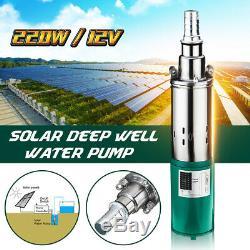 220w DC 12v Deep Solar Electric Pompe De Puits D'eau Submersible De Trou Alésage Étang