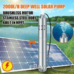 24v 2000l / H Solaire Pompe À Eau Ferme Et Ranch Submersible Pour Puits Deep Well
