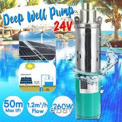 24v 260w Lift Max 1.2m³/h Pompe À Eau Submersible Pompe À Eau Profonde Pour Le Système Solaire