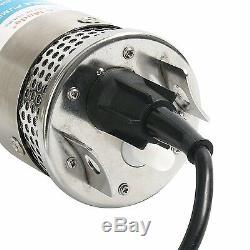 24v En Acier Inoxydable Shell Submersible 4 Puits Profond Eau Solaire DC Pompe Batterie