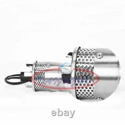24v Inoxydable Shell Submersible 3.2gpm 4 Puits Profond Eau DC Pompe