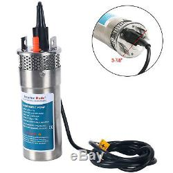 24v Inoxydable Shell Submersible 3.2gpm 4 Puits Profond Eau DC Pompe / Batterie Solaire