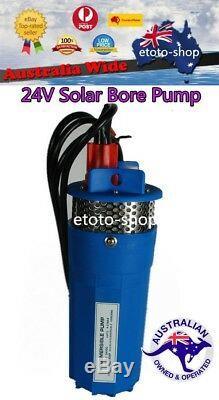 24v Solaire Pompe Submersible 4 Pour Puits Pompe À Eau 70m Tête De Puits Profond De La Batterie