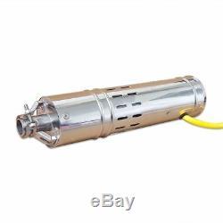 24vdc 2m3 / H Solaire Bore Submersible Trou Puits Profond Pompe À Eau 20m Vie