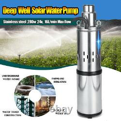 250w 24v Solaire 3m³/h Power Water Pump Farm Ranch Submersible Bore Hole Deep Well