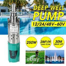 250w Submersible 30m Puits Profond Pompe À Eau D'irrigation Pompes Agricoles 3m³ / H