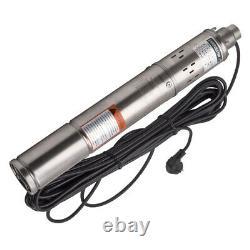 3 17l/min Pompe De Forage Puits Profond Pompe Submersible Pression D'eau Pompe À Vis 250w